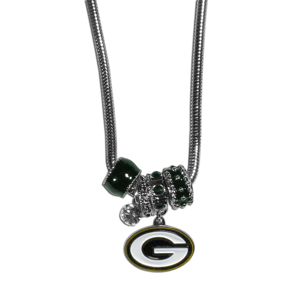 Green Bay Packers Official NFL Euro Bead Necklace / Bracelet