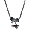 New England Patriots Official NFL Euro Bead Necklace / Bracelet
