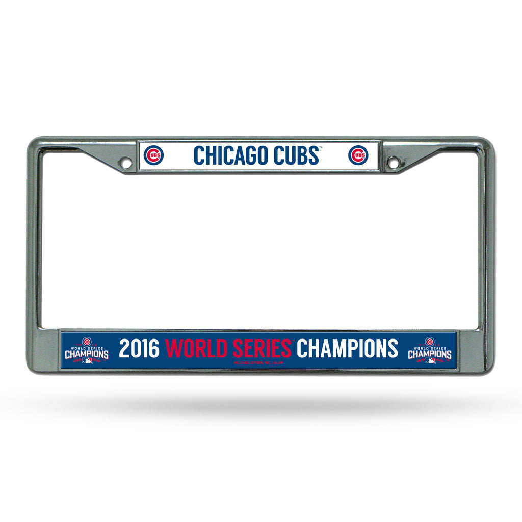Chicago Cubs Official World Series Champions Auto Chrome Frame