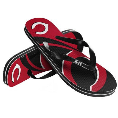 Cincinnati Reds Official MLB Unisex Big Logo Beach Flip Flops