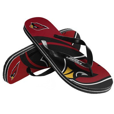 Arizona Cardinals Official NFL Unisex Big Logo Beach Flip Flops