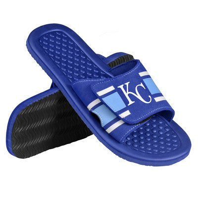 Kansas City Royals Official MLB Mens Stripe Shower Beach Summer Sandal Flip Flops