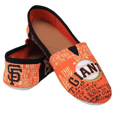 San Francisco Giants Official MLB Womens Smu Canvas Slip-on Shoes