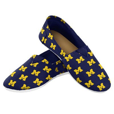 Michigan Wolverines Official NCAA Womens Canvas Slip-on Shoes
