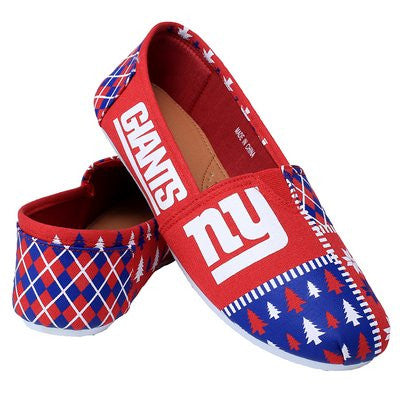 New York Giants Official NFL Canvas Slip-on Ugly Shoes