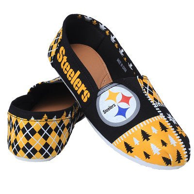 Pittsburgh Steelers Official NFL Canvas Slip-on Ugly Shoes