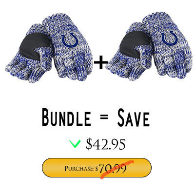 Official NFL Indianapolis Colts Gloves Choose Style