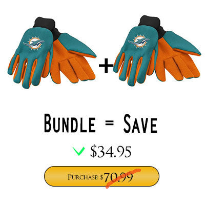 Official NFL Miami Dolphins Gloves Choose Style
