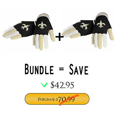 Official NFL New Orleans Saints Gloves Choose Style
