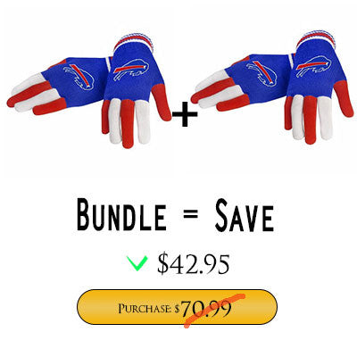 Official NFL Buffalo Bills Gloves Choose Style