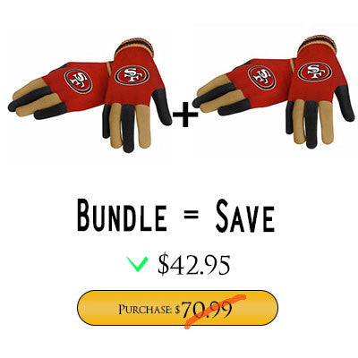 Official NFL San Francisco 49Ers Gloves Choose Style