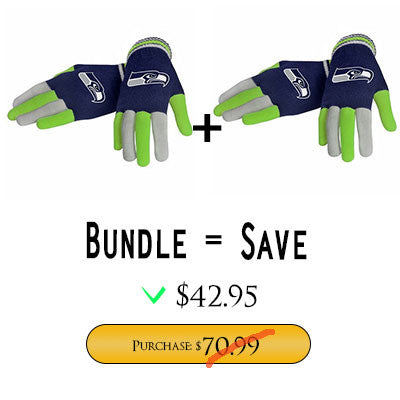 Official NFL Seattle Seahawks Gloves Choose Style