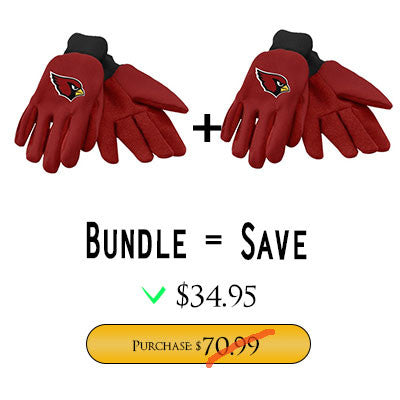 Official NFL Arizona Cardinals Gloves Choose Style