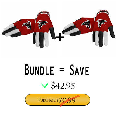 Official NFL Atlanta Falcons Gloves Choose Style