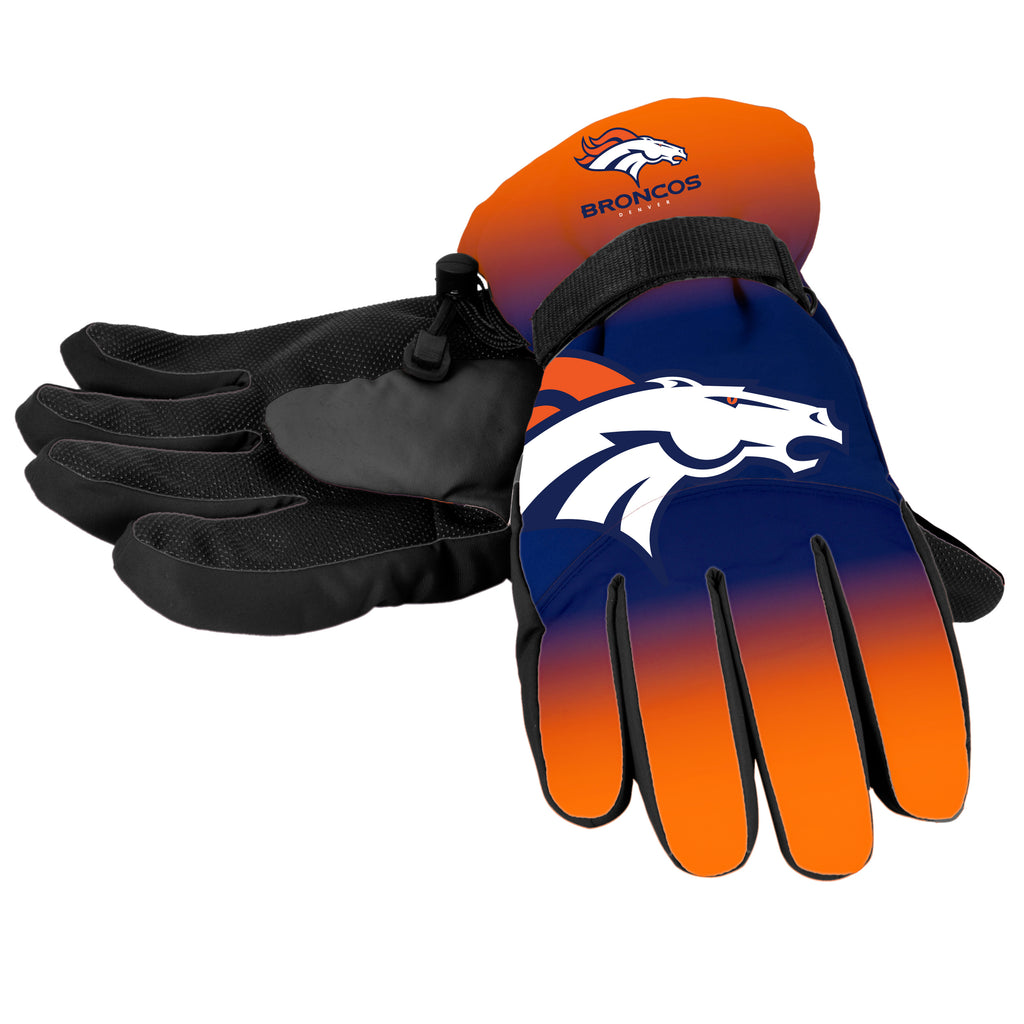 Denver Broncos Official NFL Gradient Big Logo Insulated Gloves