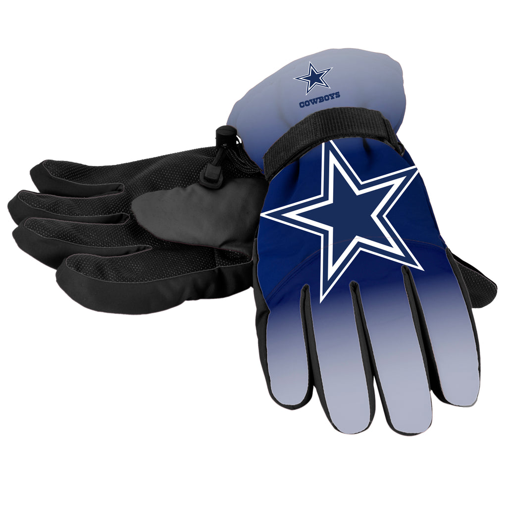 Dallas Cowboys Official NFL Gradient Big Logo Insulated Gloves