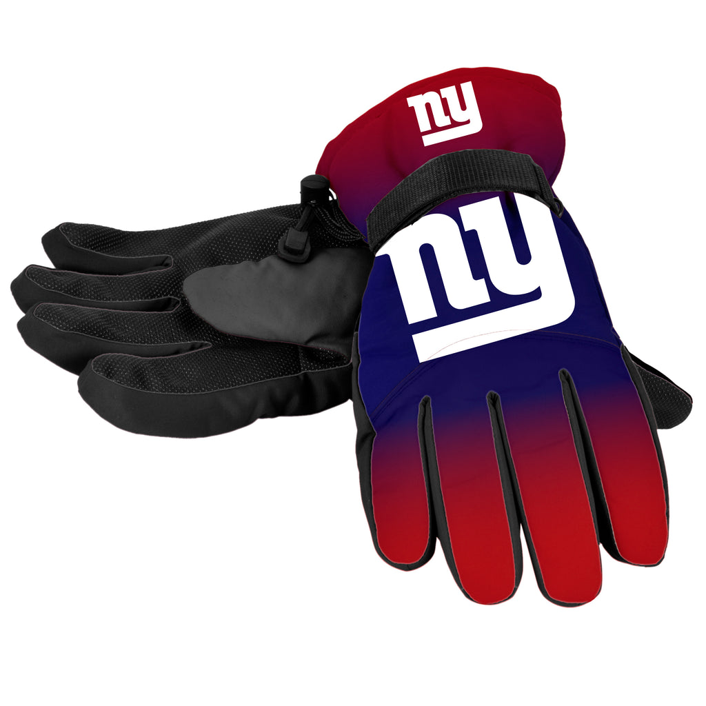 New York Giants Official NFL Gradient Big Logo Insulated Gloves