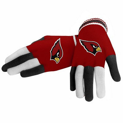 Arizona Cardinals Official NFL Multi Color Team Logo Knit Gloves