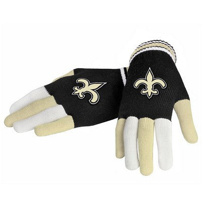 New Orleans Saints Official NFL Multi Color Team Logo Knit Gloves
