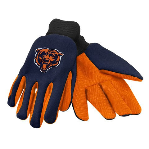 Chicago Bears Official NFL 2015 Ulitity Gloves - Colored Palm