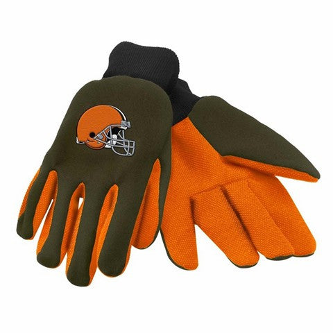 Cleveland Browns Official NFL 2015 Ulitity Gloves - Colored Palm