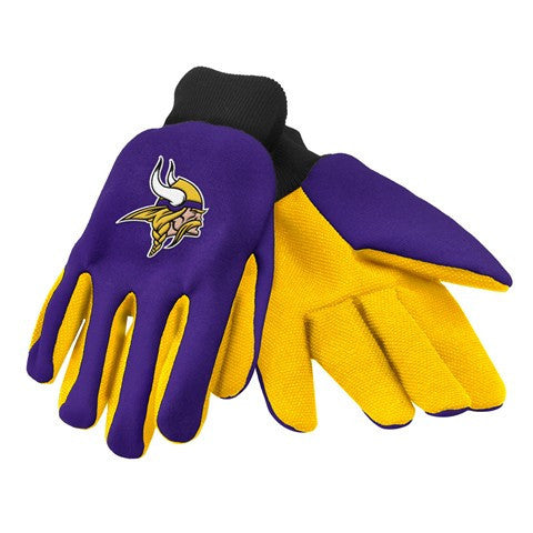Minnesota Vikings Official NFL 2015 Ulitity Gloves - Colored Palm
