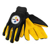 Pittsburgh Steelers Official NFL 2015 Utility Gloves - Colored Palm