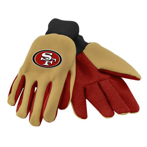 San Francisco 49Ers Official NFL 2015 Ulitity Gloves - Colored Palm