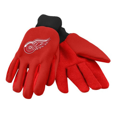 Detroit Red Wings Official NHL 2015 Ulitity Gloves - Colored Palm