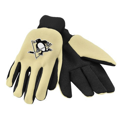 Pittsburgh Penguins Official NHL 2015 Ulitity Gloves - Colored Palm