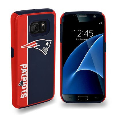 New England Patriots Official NFL Bold Dual Hybrid Sg7 Edge Phone Case Tpu
