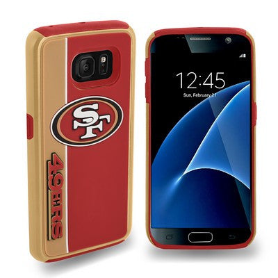 San Francisco 49Ers Official NFL Bold Dual Hybrid Sg7 Edge Phone Case Tpu
