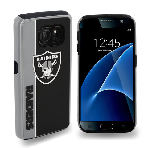 Oakland Raiders Official NFL Bold Dual Hybrid SG7/SG7 Edge Phone Case - Tpu (WILL BE SHIPPED END OF OCTOBER)