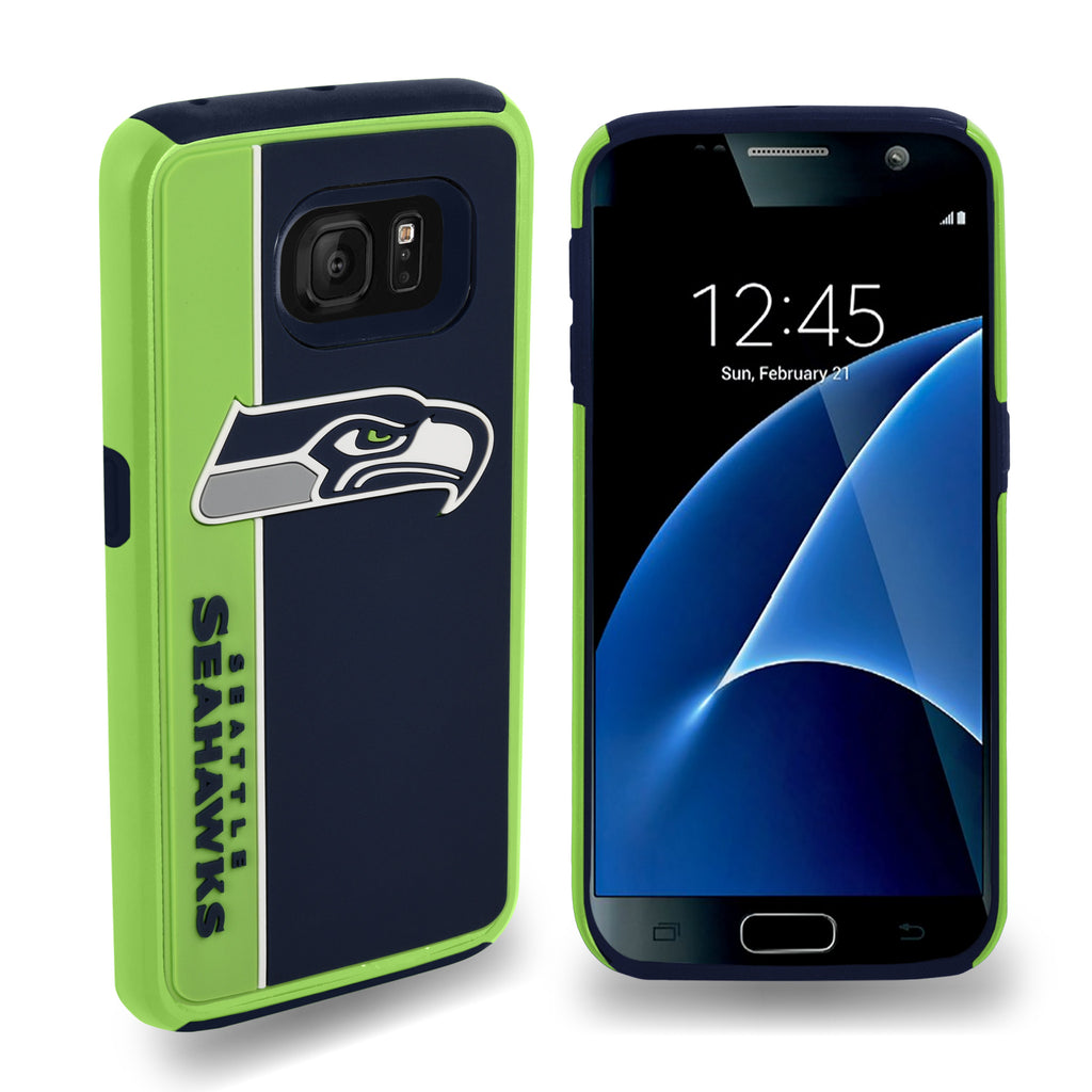 Seattle Seahawks Official NFL Bold Dual Hybrid SG7 Edge Phone Case -Tpu (WILL BE SHIPPED END OF OCTOBER)