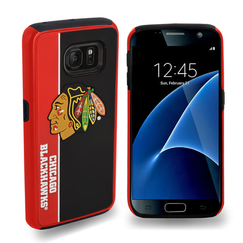 Chicago Blackhawks Official NHL Bold Dual Hybrid SG7 Edge Phone Case -Tpu (WILL BE SHIPPED END OF OCTOBER)