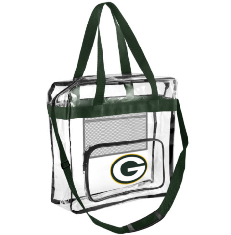 Green Bay Packers Official NFL High End Messenger Clear Tote Bag