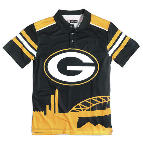 Green Bay Packers Official NFL Thematic Polyester Polo Shirt