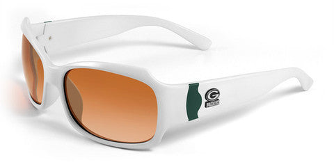 Green Bay Packers Women's Official NFL Bombshell Sunglasses and Free Micro Fiber Case
