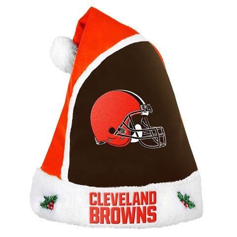 Cleveland Browns Official NFL 2015 Holiday Santa Hat