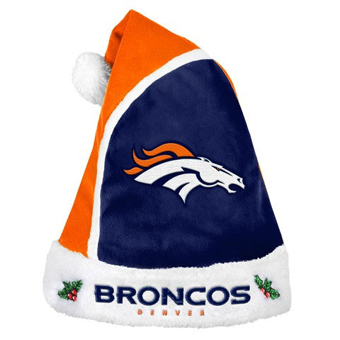 Denver Broncos Official NFL 2015 Holiday Santa Hat