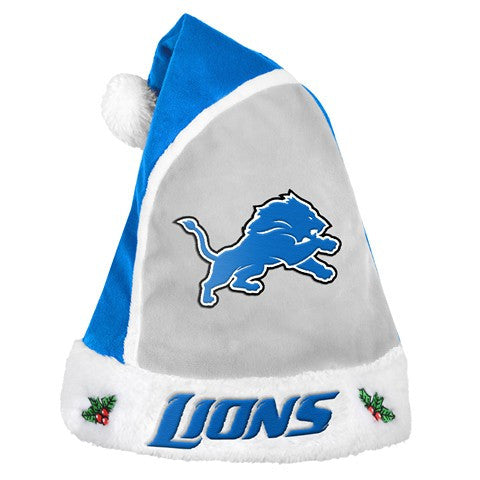 Detroit Lions Official NFL 2015 Holiday Santa Hat