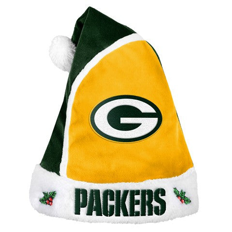 Green Bay Packers Official NFL 2015 Holiday Santa Hat