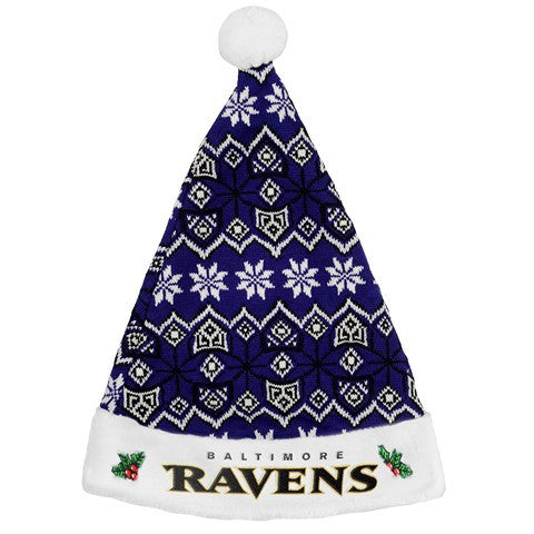 Baltimore Ravens Knit Santa Hat