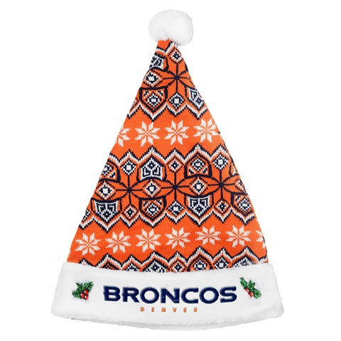 Denver Broncos 2015 Knit Santa Hat
