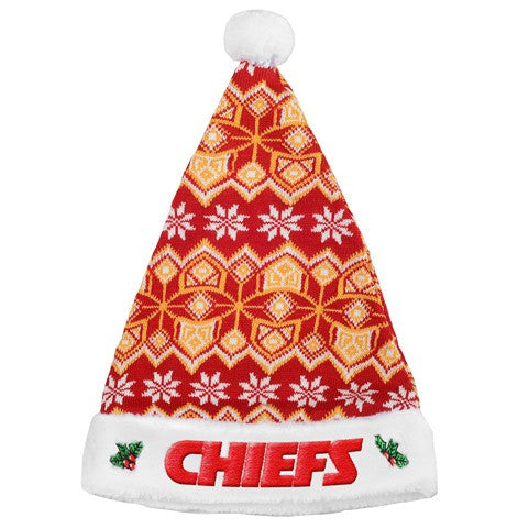 Kansas City Chiefs Knit Santa Hat