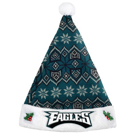 Philadelphia Eagles Knit Santa Hat