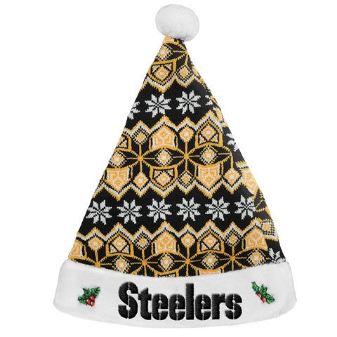 Pittsburgh Steelers Knit Santa Hat