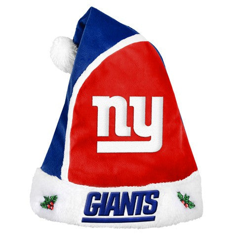 New York Giants Official NFL 2015 Holiday Santa Hat