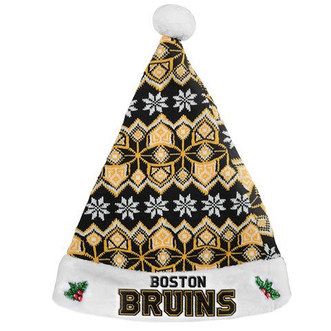 Boston Bruins Knit Santa Hat