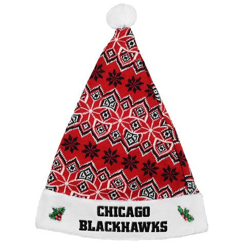 Chicago Blackhawks Knit Santa Hat
